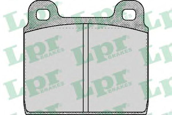 Комплект тормозных колодок, дисковый тормоз LPR арт. 05P027
