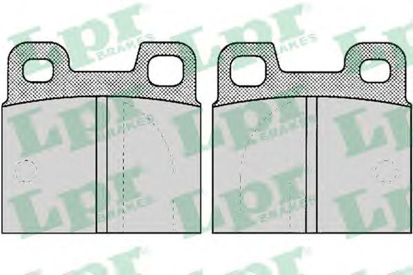 Комплект тормозных колодок, дисковый тормоз LPR арт. 05P028
