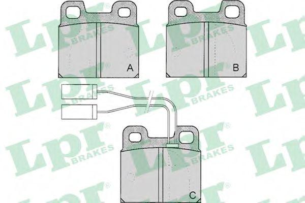 Комплект тормозных колодок, дисковый тормоз LPR арт. 05P030