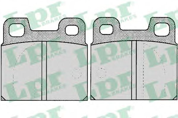 Комплект тормозных колодок, дисковый тормоз LPR арт. 05P031