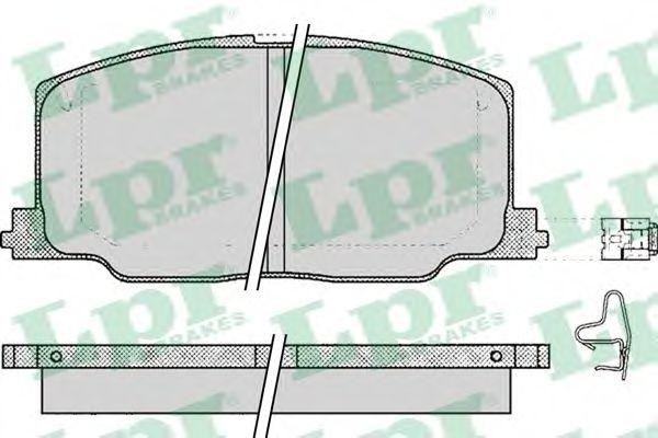 Комплект тормозных колодок, дисковый тормоз LPR арт. 05P068