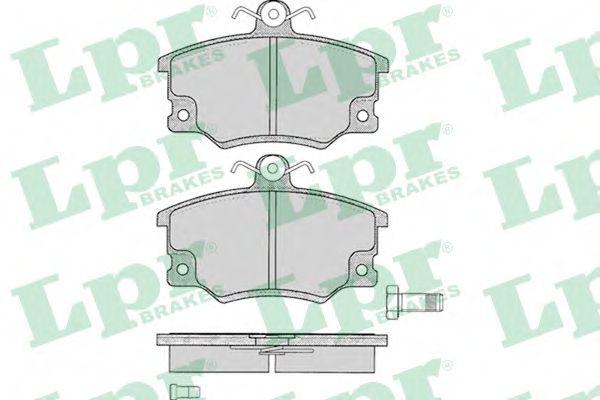 Комплект тормозных колодок, дисковый тормоз LPR арт. 05P094