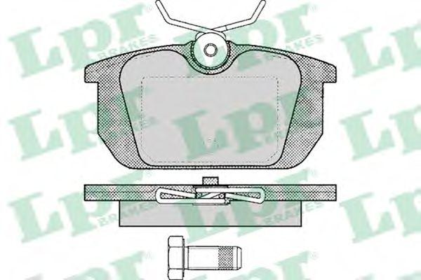 Комплект тормозных колодок, дисковый тормоз LPR арт. 05P101
