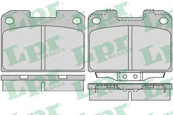 Колодки гальмівні дискові LPR 05P1022