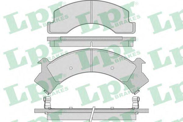 Колодки гальмівні дискові LPR 05P1040
