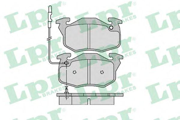 Комплект тормозных колодок, дисковый тормоз LPR арт. 05P1108
