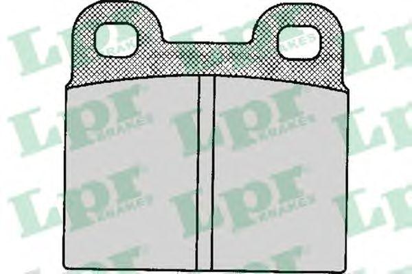 Комплект тормозных колодок, дисковый тормоз LPR арт. 05P111
