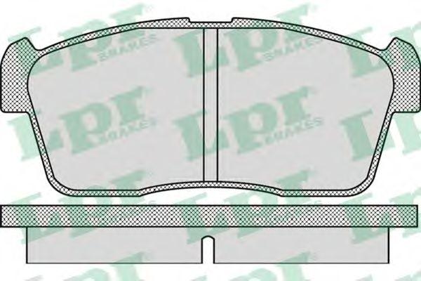 Комплект тормозных колодок, дисковый тормоз LPR арт. 05P1110