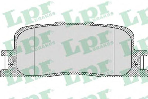 Комплект тормозных колодок, дисковый тормоз LPR арт. 05P1115