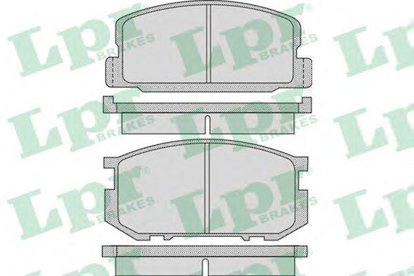 Комплект тормозных колодок, дисковый тормоз LPR арт. 05P1116