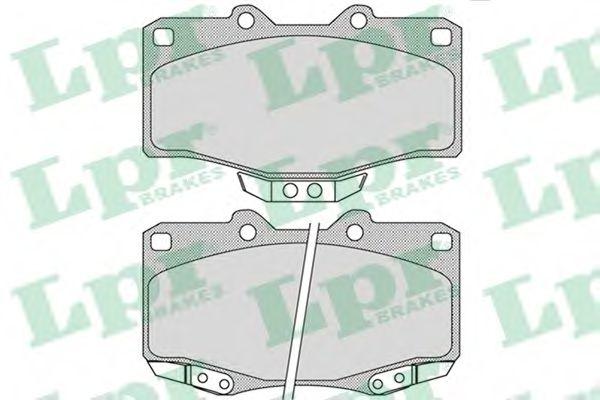 Комплект тормозных колодок, дисковый тормоз LPR арт. 05P1117