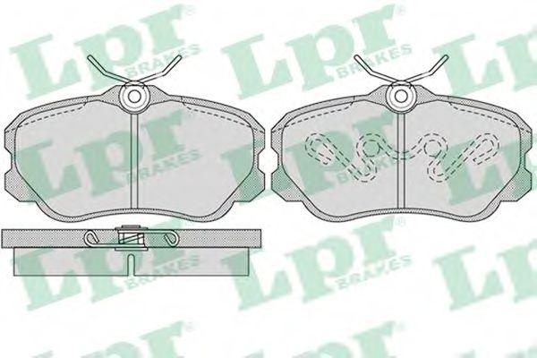Комплект тормозных колодок, дисковый тормоз LPR арт. 05P1123