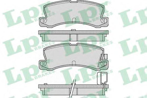 Комплект тормозных колодок, дисковый тормоз LPR арт. 05P1125