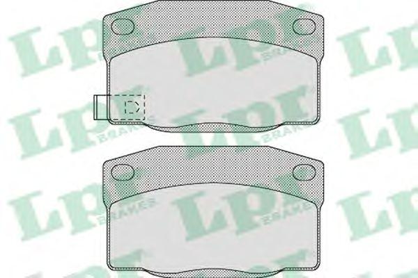 Комплект тормозных колодок, дисковый тормоз LPR арт. 05P1128