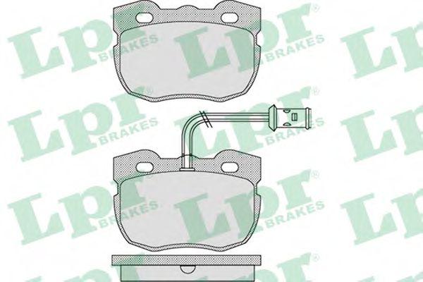 Комплект тормозных колодок, дисковый тормоз LPR арт. 05P1133