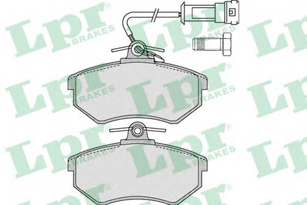 Комплект тормозных колодок, дисковый тормоз LPR арт. 05P1137