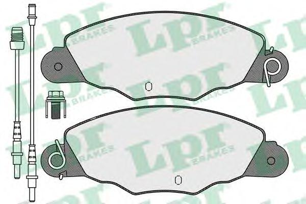 Комплект тормозных колодок, дисковый тормоз LPR арт. 05P1140