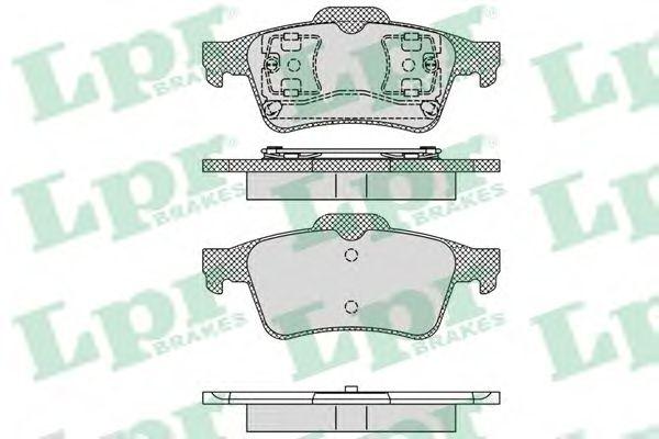 Комплект тормозных колодок, дисковый тормоз LPR арт. 05P1189