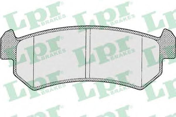 Тормозные колодки Лачетти задние (до 2006 г) LPR LPR арт. 05P1199