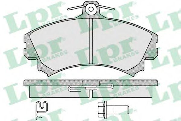 Комплект тормозных колодок, дисковый тормоз LPR арт. 05P1221