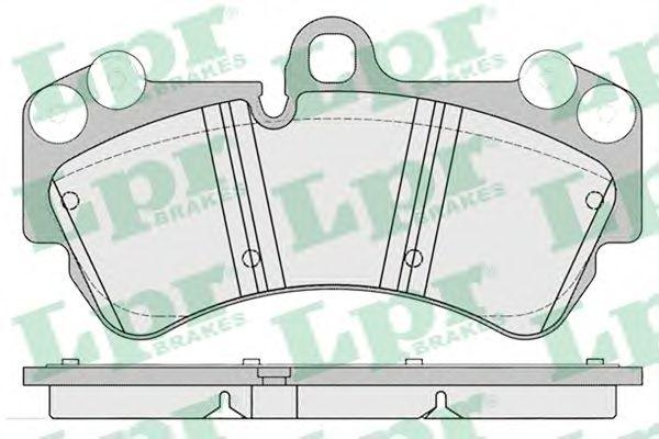 Комплект тормозных колодок, дисковый тормоз LPR арт. 05P1226