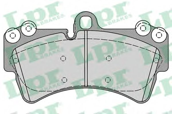 Комплект тормозных колодок, дисковый тормоз LPR арт. 05P1257