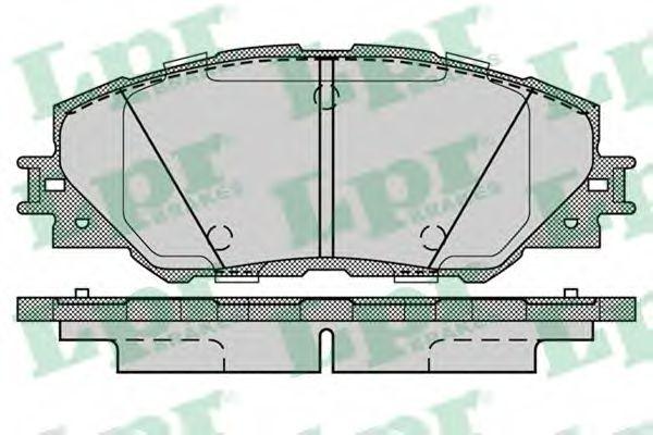 Комплект тормозных колодок, дисковый тормоз LPR арт. 05P1282