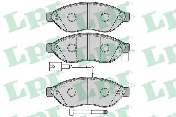 Комплект тормозных колодок, дисковый тормоз LPR арт. 05P1287