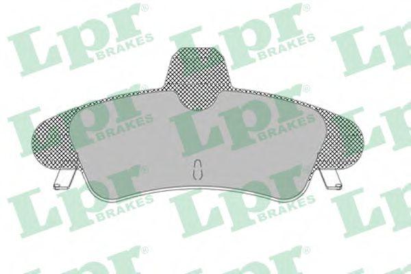 Комплект тормозных колодок, дисковый тормоз LPR арт. 05P1292