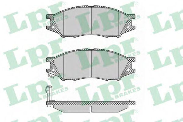 Комплект тормозных колодок, дисковый тормоз LPR арт. 05P1346