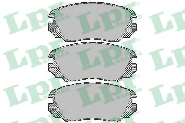 Комплект тормозных колодок, дисковый тормоз LPR арт.