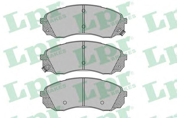 Комплект тормозных колодок, дисковый тормоз LPR арт. 05P1451