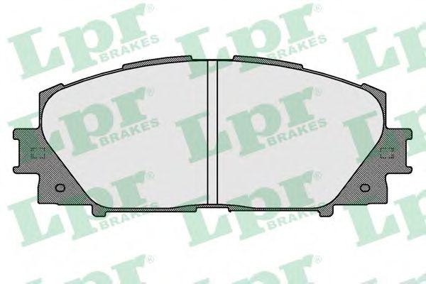 Комплект тормозных колодок, дисковый тормоз LPR арт. 05P1529