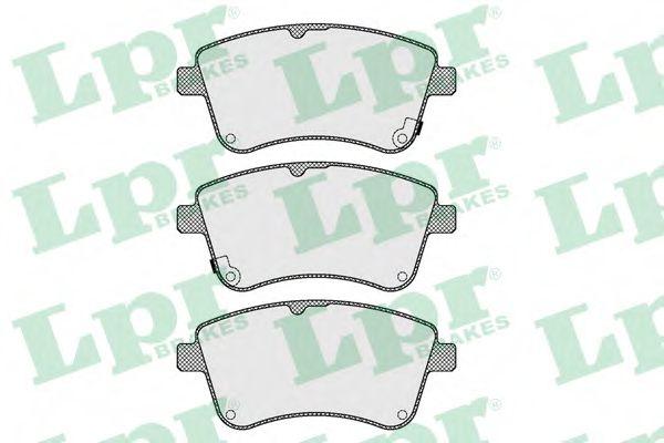 Комплект тормозных колодок, дисковый тормоз LPR арт. 05P1623