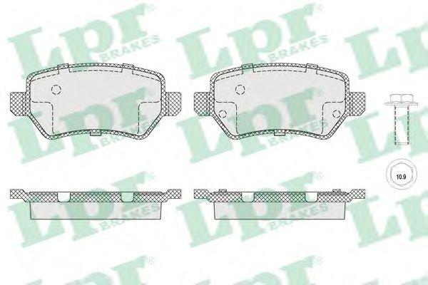 Комплект тормозных колодок, дисковый тормоз LPR арт. 05P1650