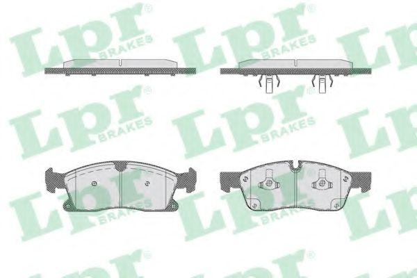 Комплект тормозных колодок, дисковый тормоз LPR арт. 05P1735