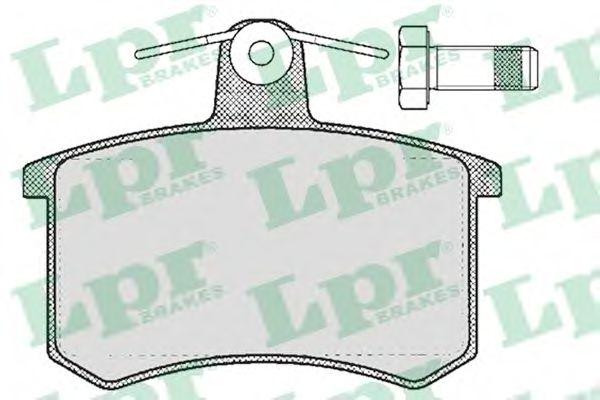 Комплект тормозных колодок, дисковый тормоз LPR арт. 05P215