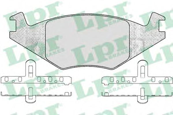 Комплект тормозных колодок, дисковый тормоз LPR арт. 05P223