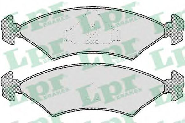 Комплект тормозных колодок, дисковый тормоз LPR арт. 05P232