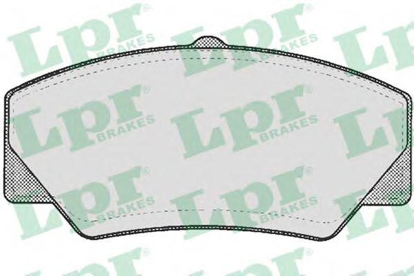 Комплект тормозных колодок, дисковый тормоз LPR арт. 05P277