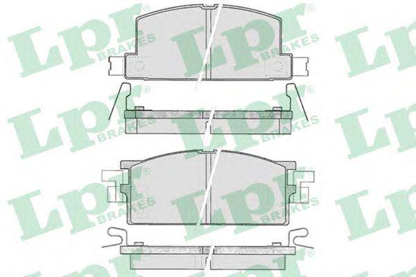 Колодки гальмівні дискові LPR 05P287