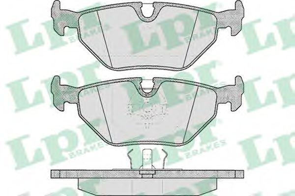 Комплект тормозных колодок, дисковый тормоз LPR арт. 05P297