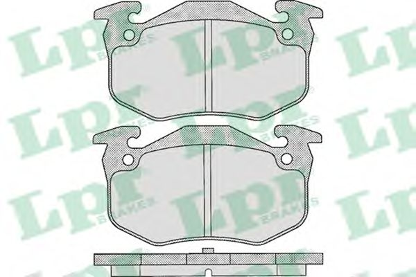 Комплект тормозных колодок, дисковый тормоз LPR арт. 05P307