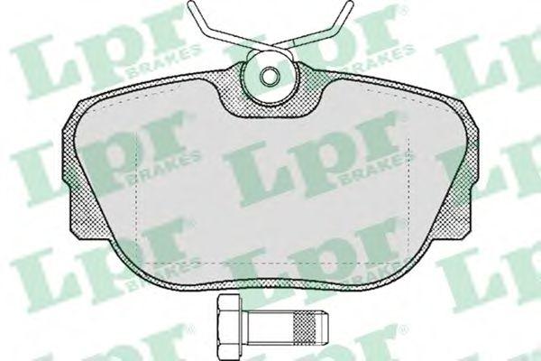 Комплект тормозных колодок, дисковый тормоз LPR арт. 05P319