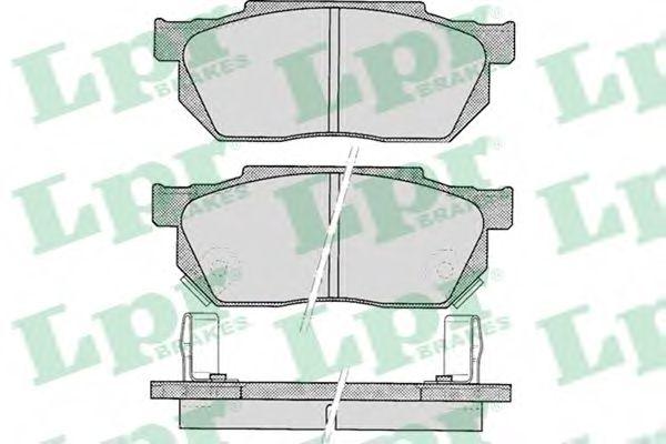 Комплект тормозных колодок, дисковый тормоз LPR арт. 05P322