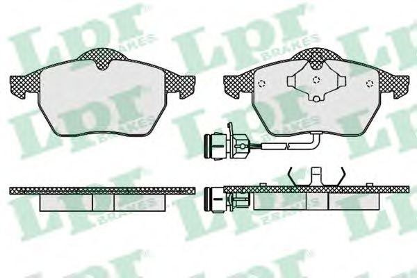 Комплект тормозных колодок, дисковый тормоз LPR арт. 05P453