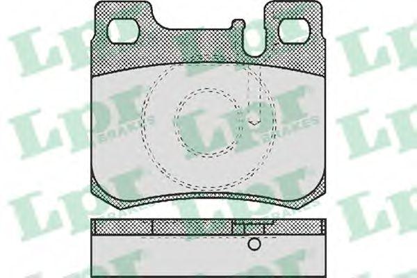 Комплект тормозных колодок, дисковый тормоз LPR арт. 05P485