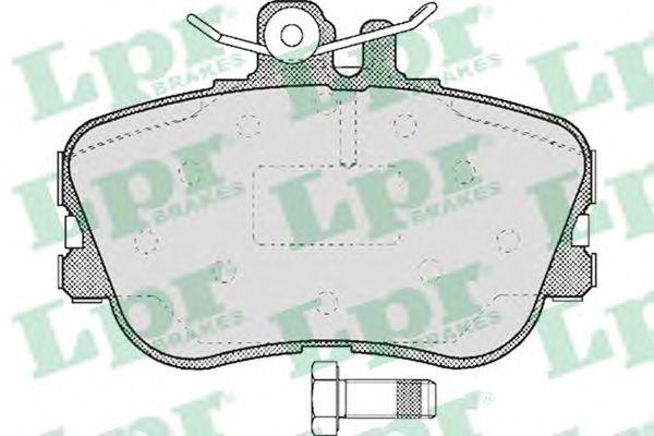 Комплект тормозных колодок, дисковый тормоз LPR арт. 05P492