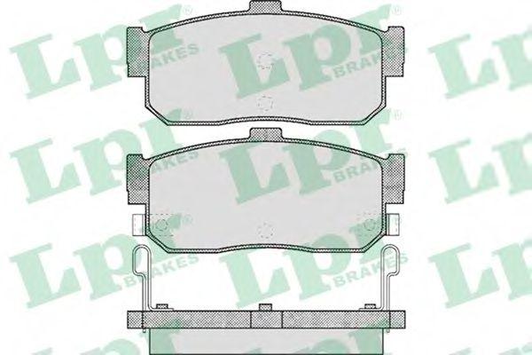 Комплект тормозных колодок, дисковый тормоз LPR арт. 05P602