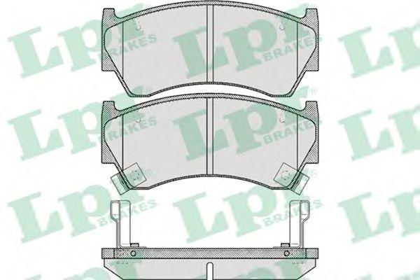 Комплект тормозных колодок, дисковый тормоз LPR арт. 05P617